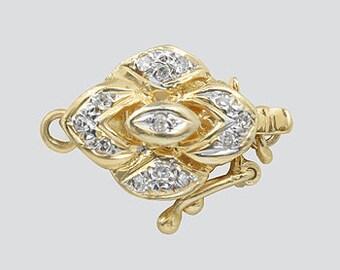 Diamonds 14k Gold Clasp