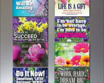Set 0f 8 Motivational and inspirational quotes Fridge Magnets No.3