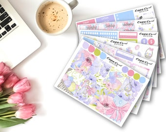 EASTER ECLP Weekly Stickers Kit for Erin Condren 2018 Vertical Weekly Kit Planner Sticker Set Sticker