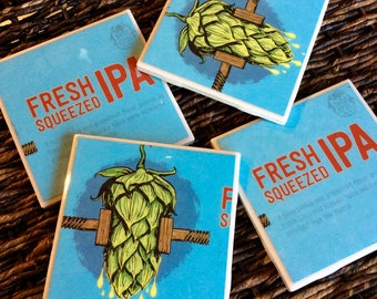 Fresh Squeezed IPA Beer Coasters