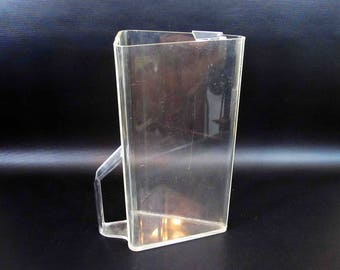 Vintage Modern Clear Lucite Pitcher. Circa 1960's- 1970's.