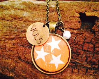 Tennessee Tri-star Necklace / Tennessee Jewelry