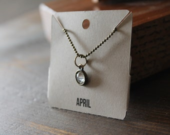 April Ball Chain Charm Necklace