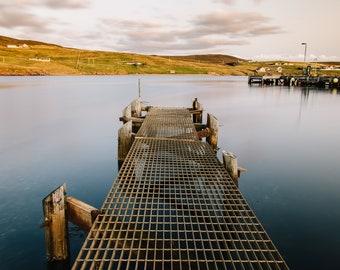 Skeld Pier, Shetland - CANVAS PRINT