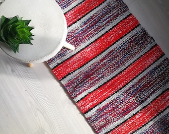 Woven rug recycled materials
