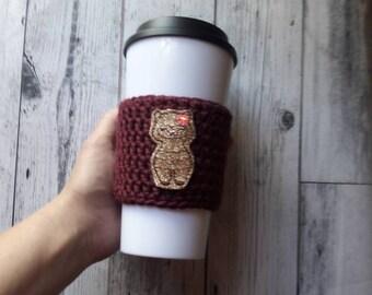 Llama lover gift, llama cup cozy, llama gift, llama crochet cup cozy, cup cozy, reusable cup sleeve,gift for her under 10, llama coffee cozy