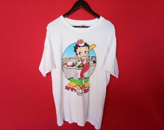 vintage betty boop cartoon large mens t shirt