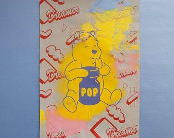 The Dreamer Popper Bear Print