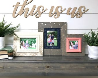 This is us wood word cutout, Wooden letters, Laser Cut Word, Gallery Wall Decor, fall home decor
