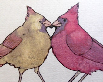 Cardinal Heart 4x6 Notecard