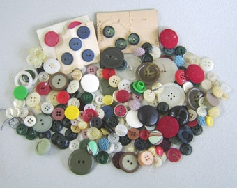 Vintage Buttons Mixed Lot Bag