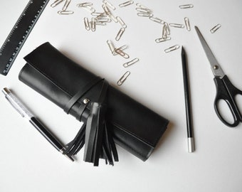 Leather pencil roll case Leather case