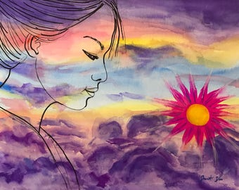 Sky Woman painting
