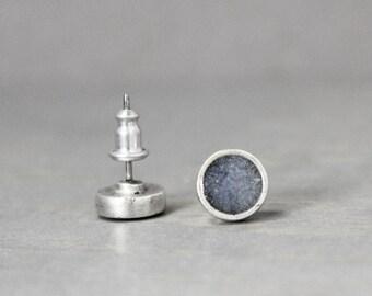 Sodalite Earrings, Silver Sodalite Earrings, Blue Earrings, Sodalite Jewelry, Silver Earrings, Meditation Jewelry, Pewter Earrings,