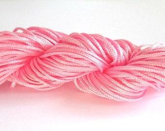 25 m wire braided pink nylon 1 mm