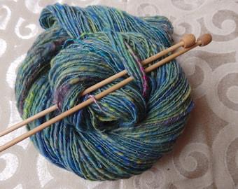 Mermaid Hair handspun merino and silk yarn, 200 yards sport weight