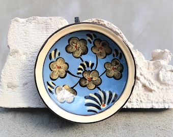 Vintage plate Decorative plate wall hanging Collectible plate Gift anniversary Hand painted art decor Farmhouse gift  Rustic wall decor