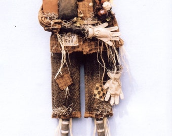 "Primitive PATTERN ""Happy Fall"" Prim Scarecrow"