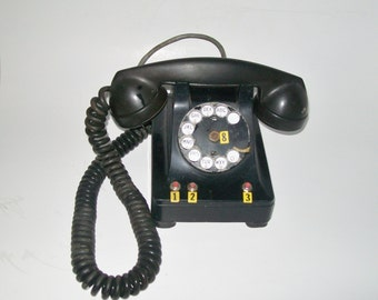 Vintage 1940's Rotary Desk Phone Western Electric Company Art Deco Home Decor Collectible