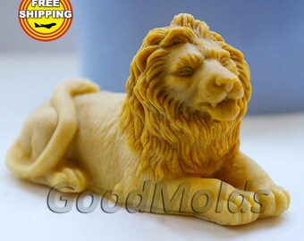 Lion 3D mold soap mold silicone molds mold for soap mold lion mold silicone mold animals mold free shipping