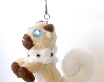 Rockruff Plush Keychain