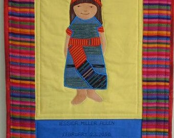 International Adoption Quilt Patterns - Guatemala Girl