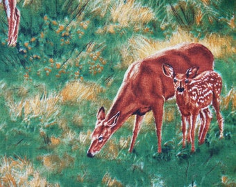 Whitetail Deer Scenic - Wild Wings, Rosemary Millette for Springs Creative - 1 yard - more for one continuous cut - F3
