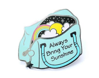 Space pin, Sunshine pin, Rainbow pin, Inspirational pin, Enamel pin, Space enamel pin, Space lover, Pen pin, Bag pin, Space lapel pin