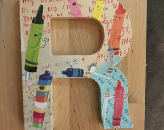 Custom  Made Letters: The Day The Crayons Quit