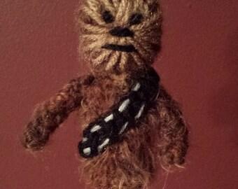 Chewbacca Crochet Finger Puppet Pattern,  Star Wars Finger Puppet Pattern, Star Wars Crochet