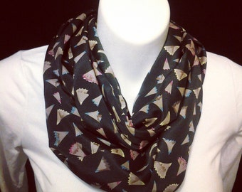 Pencil shavings  satin scarf ready to ship great gift item for teachers