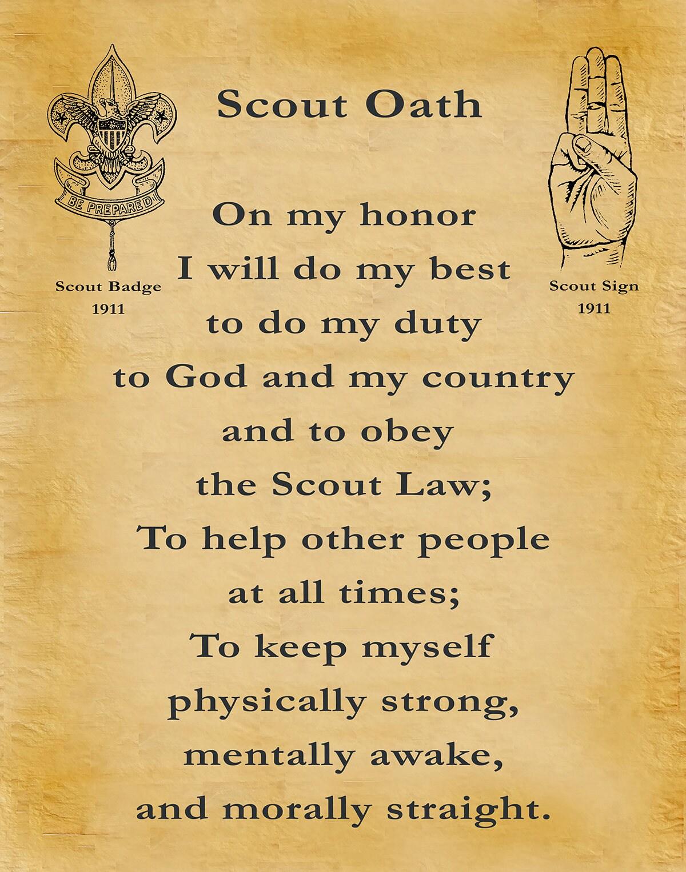 1911 Boy Scout Oath - Boy Scouts of America - BSA - Eagle Scout ...