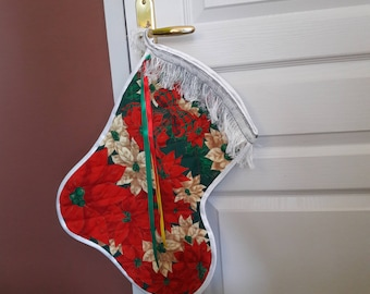 Christmas season - Christmas atmosphere - large boot Christmas with with poinsettas