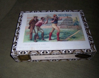 Fair Ball Cigar Box Baseball Stadium