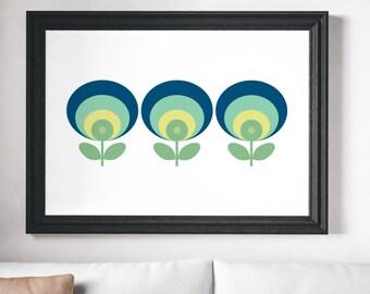 Scandinavian Print, Minimalist Print, Wall Art Print, Scandinavian Flower, Wall Print, Minimalist, Flower Print, Nordic Flower, Prints, Art