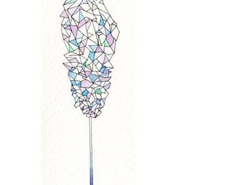 Geometric Art Print, Rock Candy, Sugar for a Cloud Pony- candy, triangles, sugar