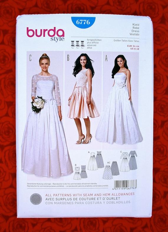 Burda Kleid 6776 Modische Kleider Beliebt In Deutschland