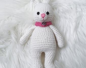 White Crochet Bunny Rabbit