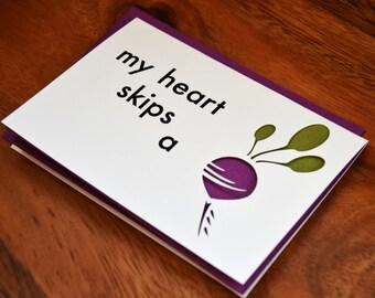 Die-Cut My Heart Skips a Beet Card