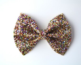 Multi Glitter Bow Adorable Photo Prop Pictures Headband for Newborn Baby Little Girl Child Adult