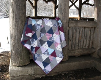 Gray, Purple & Blue Quilt