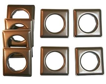 "Fast-set Metal, #12 Square Grommet, 1 9/16"", 8 Sets, Ant. Copper"