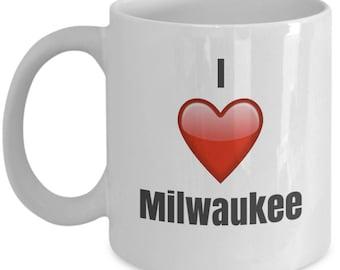 I Love Milwaukee, Milwaukee Mug, Milwaukee Coffee Mug, Milwaukee Gifts, Milwaukee Lover Gift, Funny Coffee mug