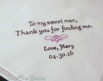 Personalized Groom's Handkerchief For Your Wedding Day