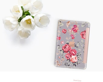 iPad Case . iPad Pro 10.5 . Richmond Rose Gray with Rose Gold Smart Cover Hard Case for  iPad mini 4  iPad Pro  New iPad 9.7 2017