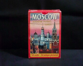 Playing Cards. Moscow with 54 Pictures