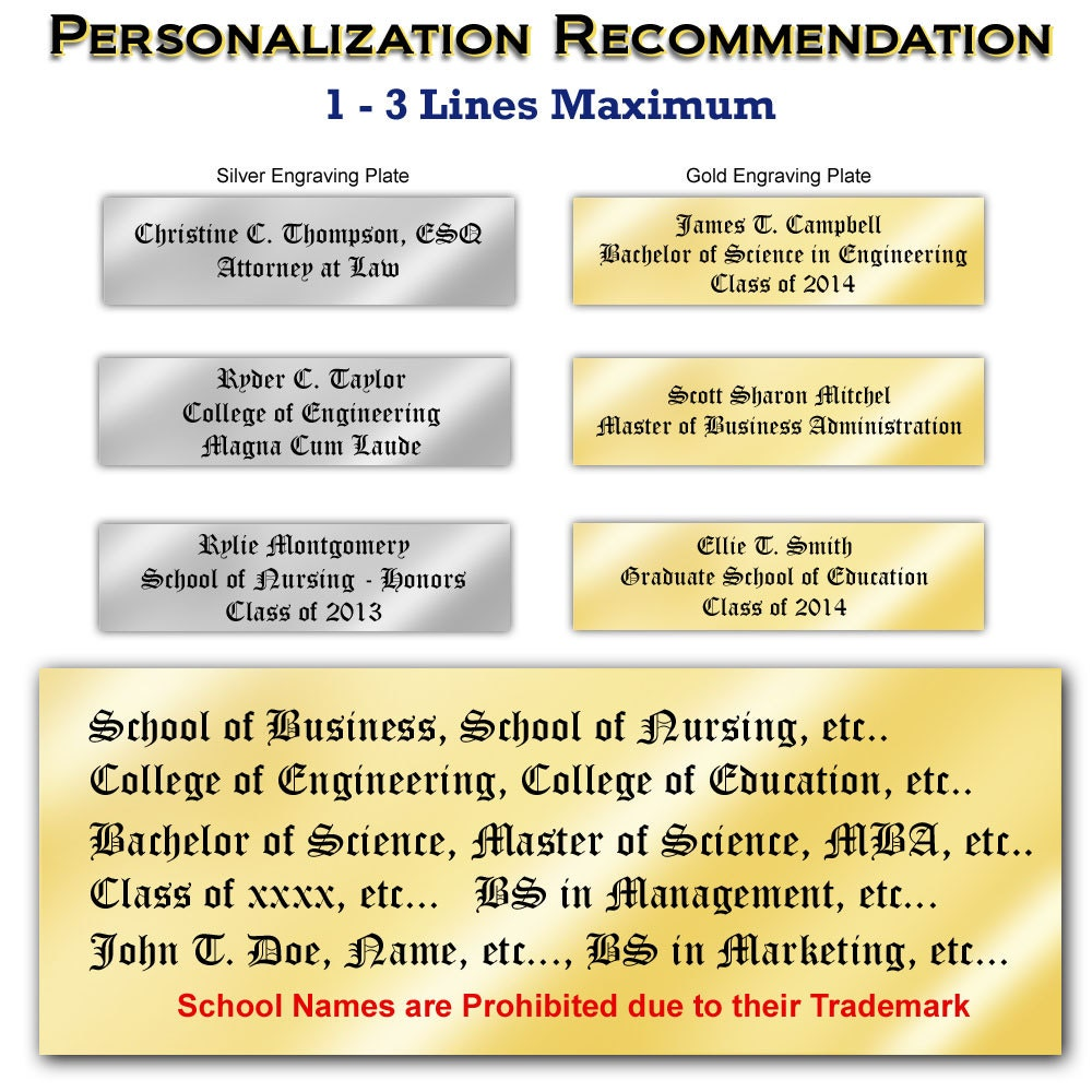 Estera de marco Universidad Diploma placas certificado Marcos ...