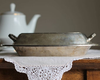 Victorian Silver Plate Covered Dish