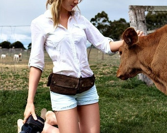 Fashionable Recycled Leather Fanny Packs by Happy Cow