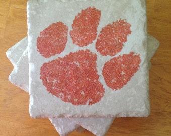 Clemson Tigers Coasters Set of 4